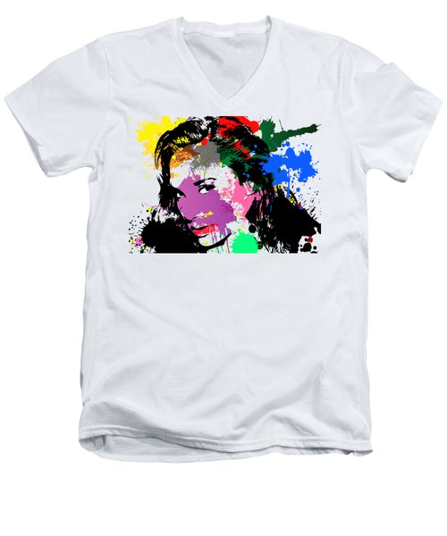 Gal Gadot Pop Art Men's V-Neck T-Shirt