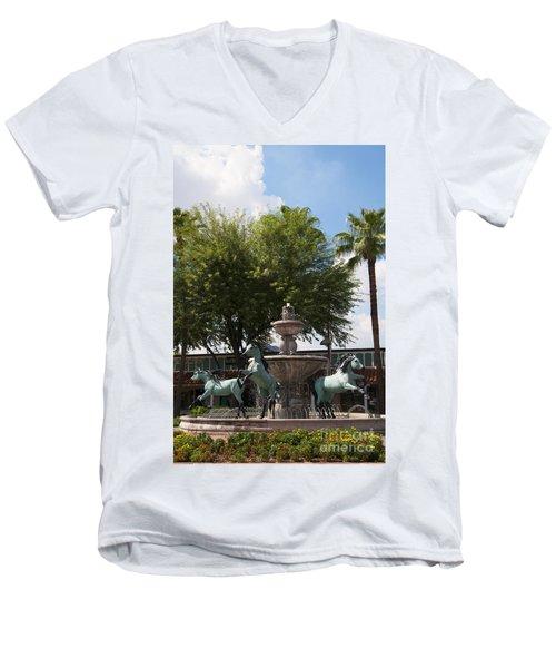 Galloping Water Horses Men's V-Neck T-Shirt