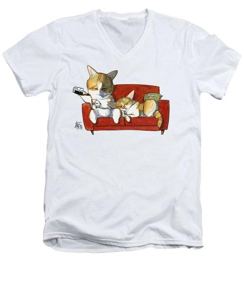 Galmiche 3258 Men's V-Neck T-Shirt