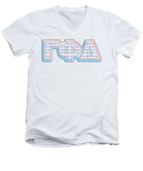 Gamma Phi Delta Greek Men's V-Neck T-Shirt