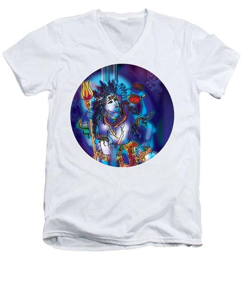 Gangeshvar Shiva Men's V-Neck T-Shirt