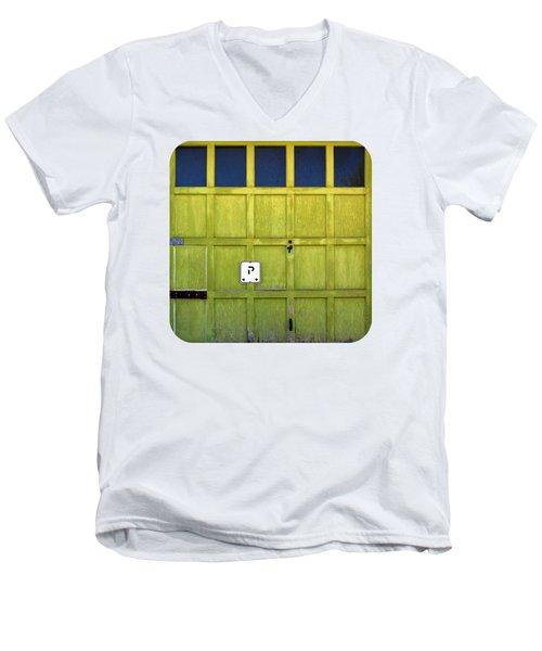 Garage Door Men's V-Neck T-Shirt