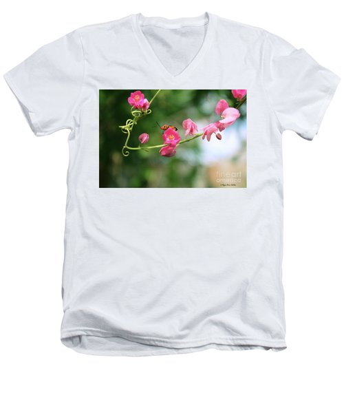 Men's V-Neck T-Shirt featuring the photograph Garden Bug by Megan Dirsa-DuBois