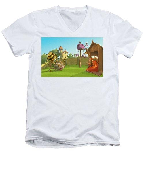 Garden Monsters Men's V-Neck T-Shirt