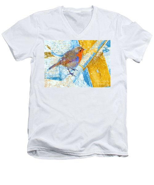 Garden Robin Men's V-Neck T-Shirt