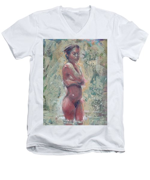 Gardenia Negra Men's V-Neck T-Shirt