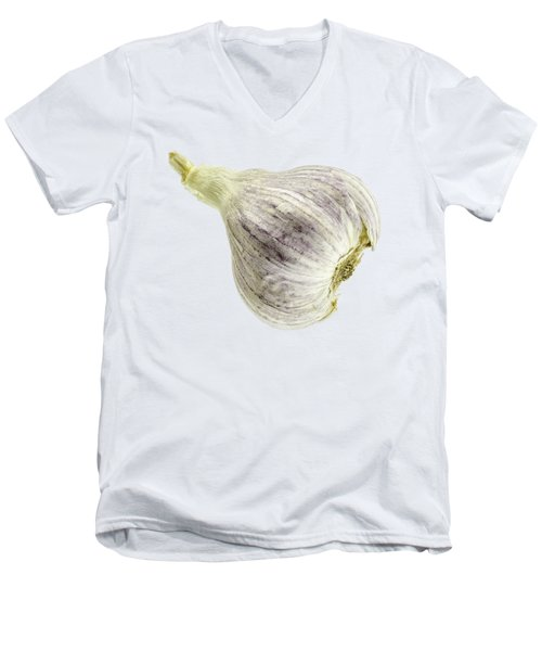Garlic Head Men's V-Neck T-Shirt by Erich Grant