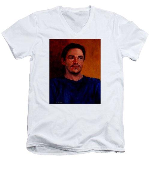 Garrett Men's V-Neck T-Shirt by Connie Schaertl