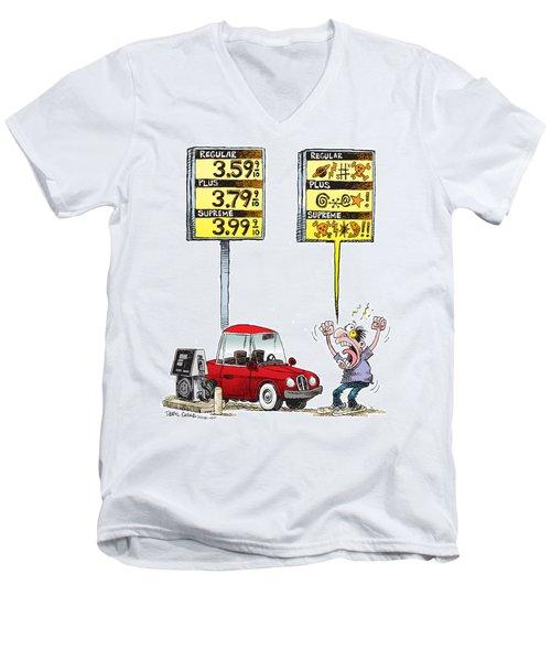 Gas Price Curse Men's V-Neck T-Shirt