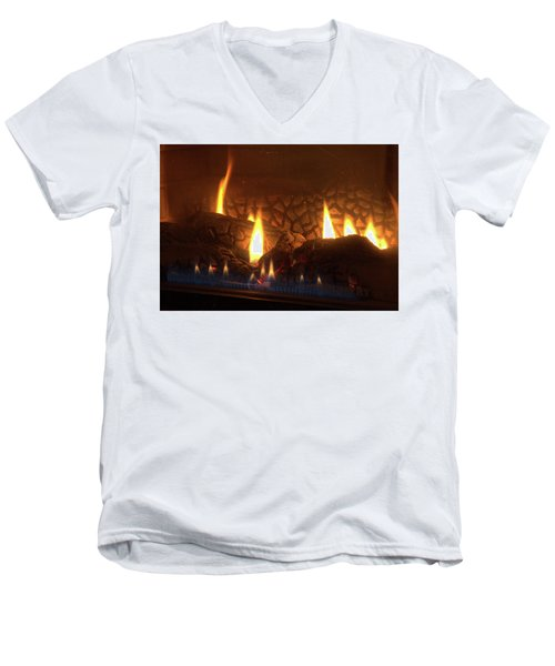 Gas Stove Flame Men's V-Neck T-Shirt