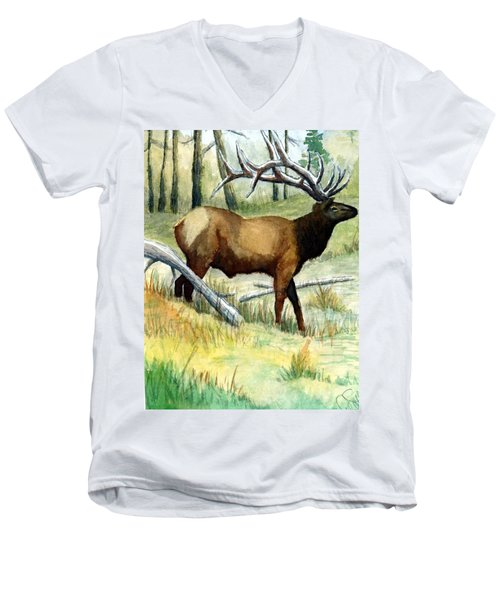 Gash Flats Bull Men's V-Neck T-Shirt