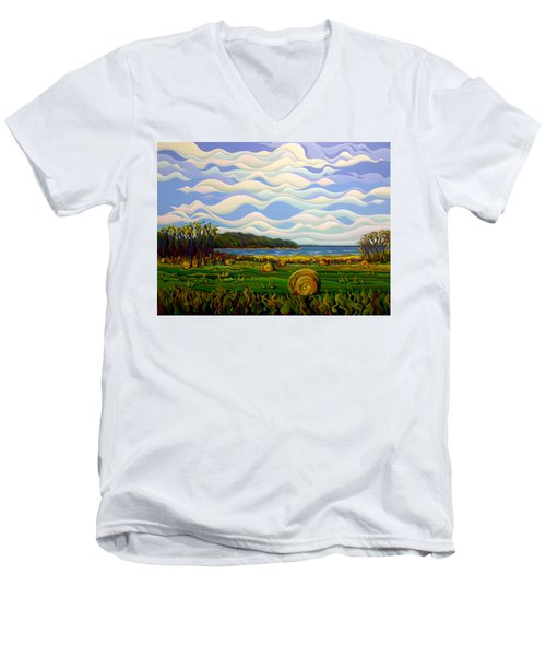 Gaspe's Grand Serenousphere Men's V-Neck T-Shirt