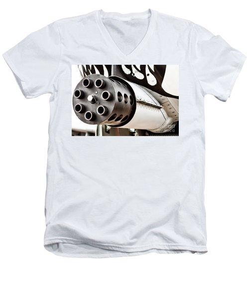 Gatling Men's V-Neck T-Shirt