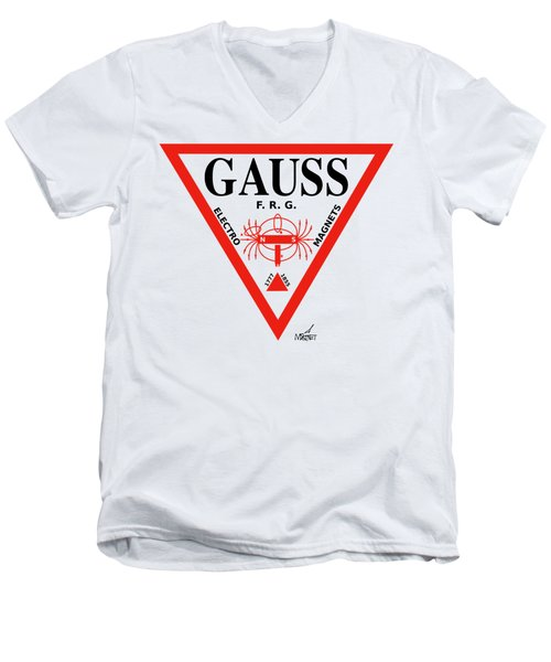 Gauss Men's V-Neck T-Shirt