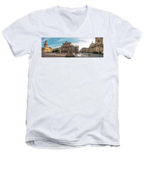 Gendarmenmarkt Platz / Berlin Men's V-Neck T-Shirt by Stavros Argyropoulos
