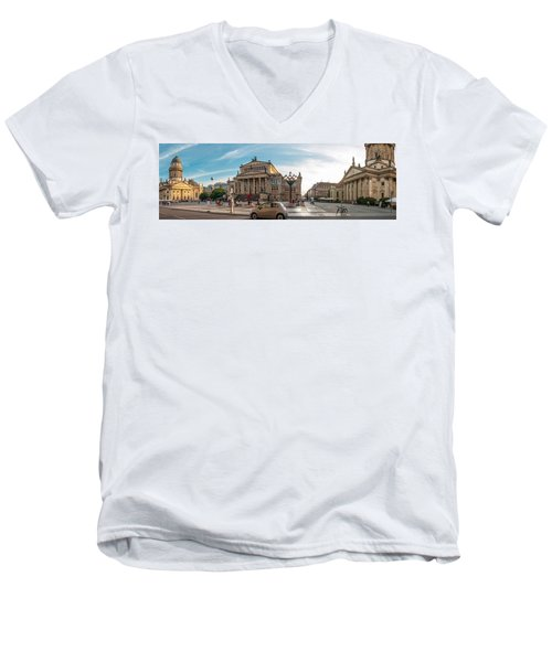 Gendarmenmarkt Platz / Berlin Men's V-Neck T-Shirt