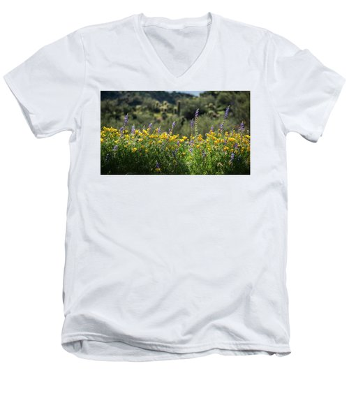 Men's V-Neck T-Shirt featuring the photograph Gently Swaying In The Wind  by Saija Lehtonen