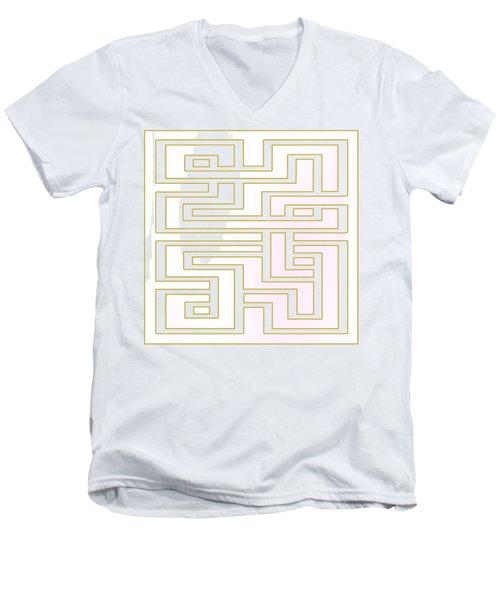 Geo 7 - Transparent Men's V-Neck T-Shirt