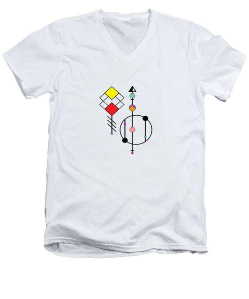 Geometric Art 278 Men's V-Neck T-Shirt
