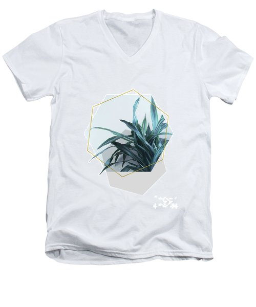 Geometric Jungle Men's V-Neck T-Shirt