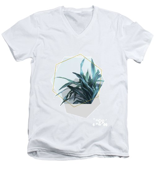 Geometric Jungle Men's V-Neck T-Shirt