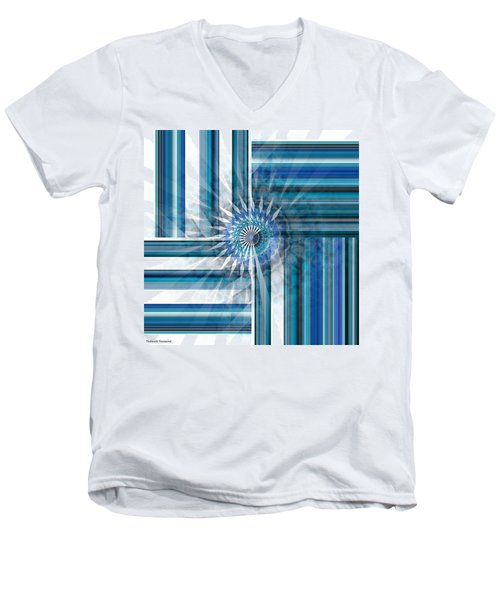 Geometry  Men's V-Neck T-Shirt by Thibault Toussaint