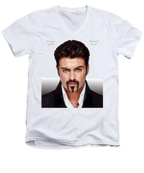 George Michael Tribute Men's V-Neck T-Shirt