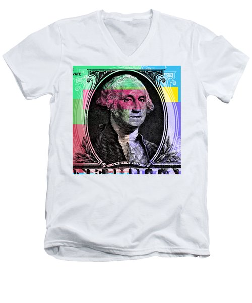 George Washington Pop Art Men's V-Neck T-Shirt