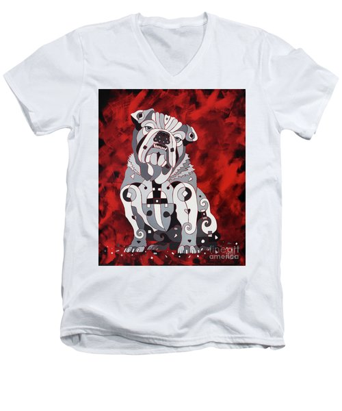 Georgia Bull Dog Men's V-Neck T-Shirt