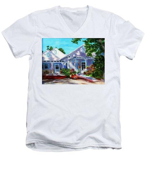 Georgia Street, Key West Men's V-Neck T-Shirt