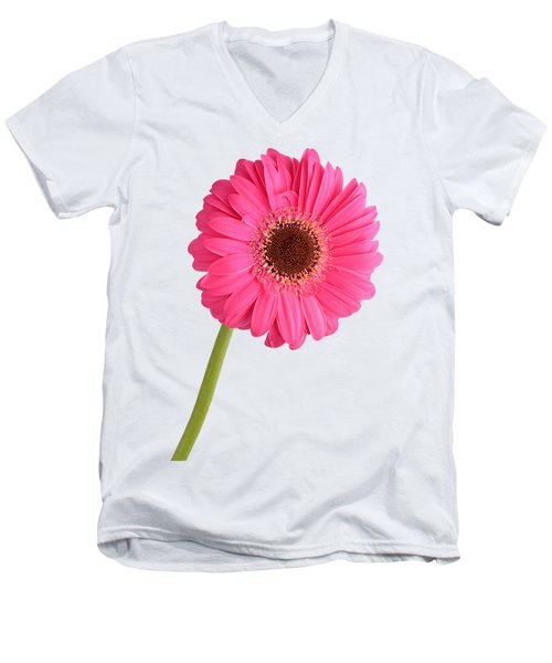 Gerbera Men's V-Neck T-Shirt by George Atsametakis