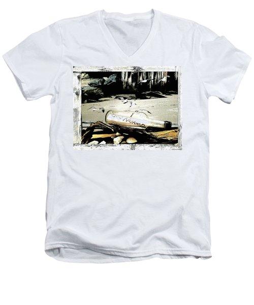 Get Naked  Men's V-Neck T-Shirt