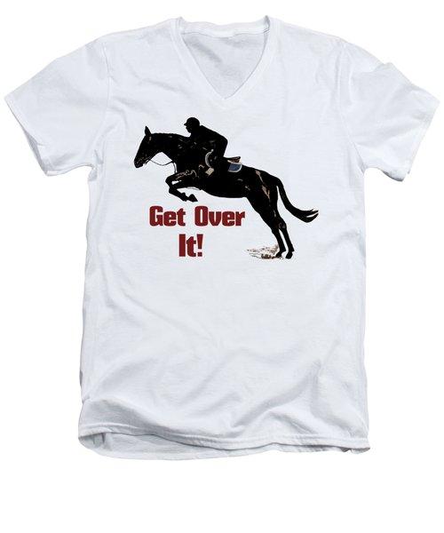 Get Over It Horse Jumper Men's V-Neck T-Shirt by Patricia Barmatz