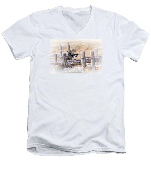 Gettin Jiggy Widit Men's V-Neck T-Shirt by Daniel Hebard