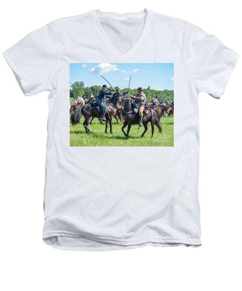Gettysburg Cavalry Battle 7978c  Men's V-Neck T-Shirt