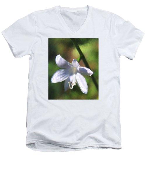 Men's V-Neck T-Shirt featuring the photograph Ghost Flower by Susan Crossman Buscho