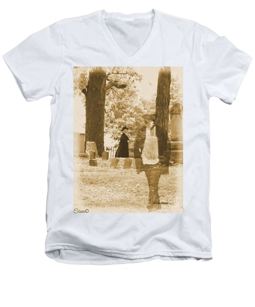 Ghost In The Graveyard Men's V-Neck T-Shirt