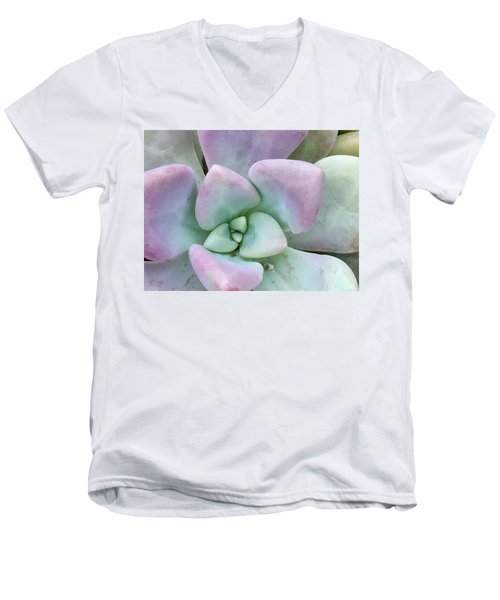 Ghost Plant Men's V-Neck T-Shirt by Russell Keating