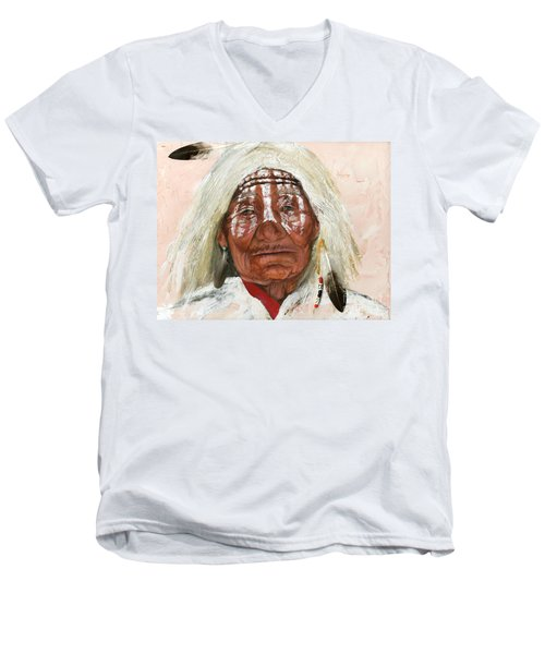 Ghost Shaman Men's V-Neck T-Shirt by J W Baker