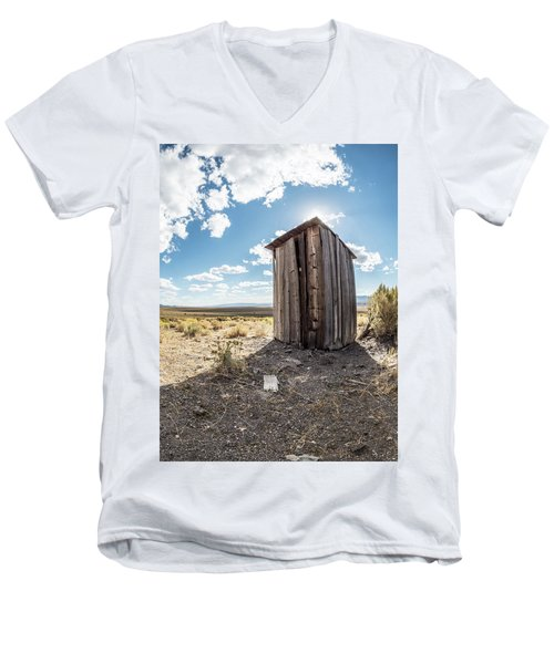 Ghost Town Outhouse Men's V-Neck T-Shirt