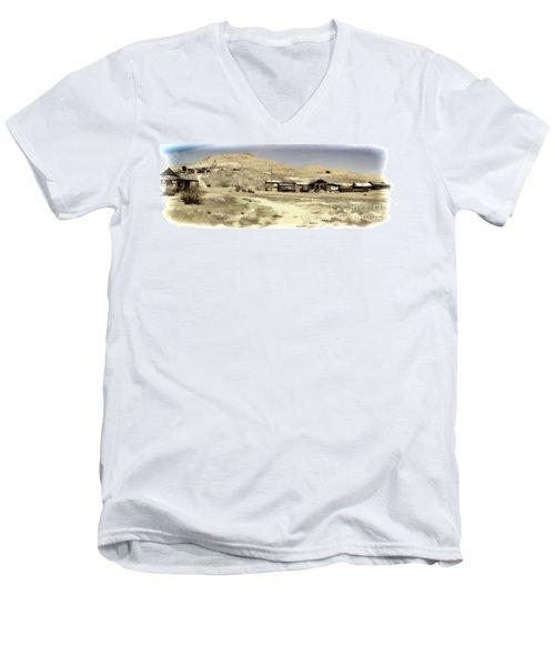 Ghost Town Textured Men's V-Neck T-Shirt