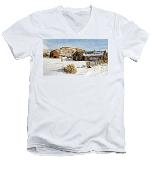 Ghost Town Winter Men's V-Neck T-Shirt
