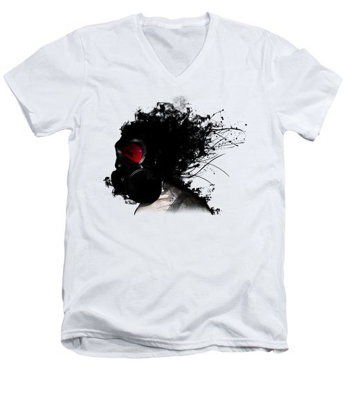 Ghost Warrior Men's V-Neck T-Shirt by Nicklas Gustafsson