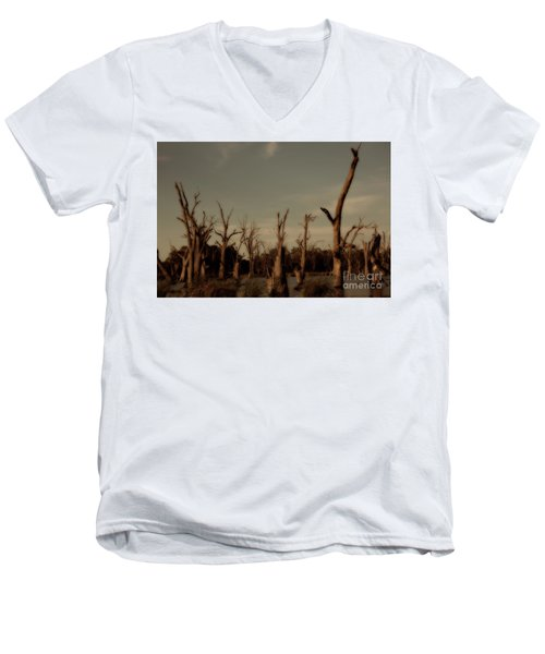 Men's V-Neck T-Shirt featuring the photograph Ghostly Trees by Douglas Barnard