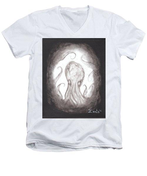 Ghostopus Men's V-Neck T-Shirt by Christophe Ennis