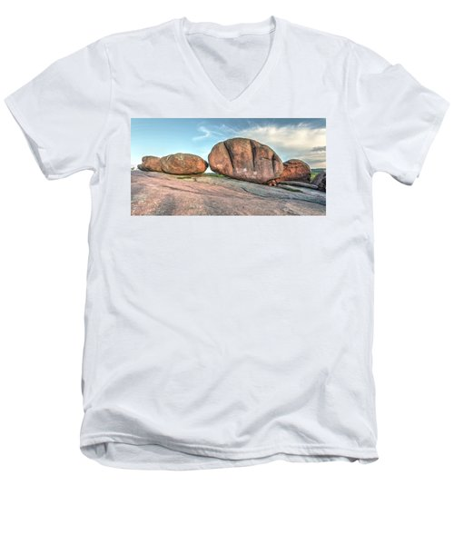Men's V-Neck T-Shirt featuring the photograph Giant Potatoes by Harold Rau