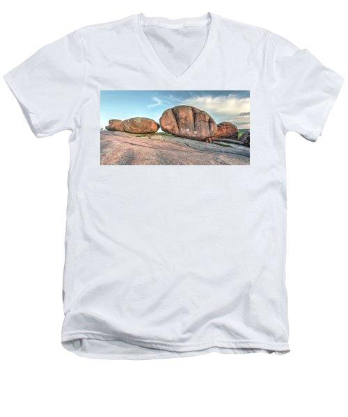 Giant Potatoes Men's V-Neck T-Shirt by Harold Rau