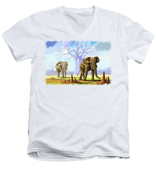 Giants And Little People Men's V-Neck T-Shirt