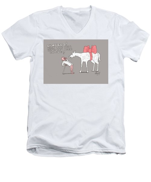 Gift Horse Men's V-Neck T-Shirt