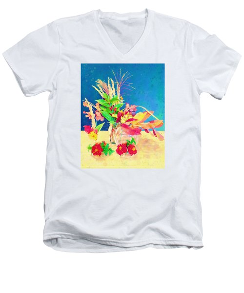 Gifts From The Yard Watercolor Men's V-Neck T-Shirt by Christina Lihani